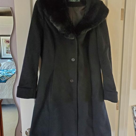 Lauren faux fur collar coat